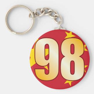 98 CHINA Gold Basic Round Button Keychain