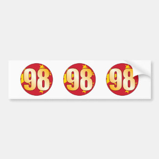 98 CHINA Gold Bumper Sticker