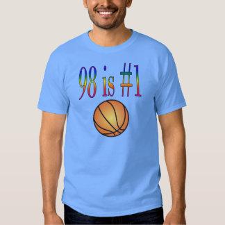 98 es la camiseta del baloncesto #1 poleras