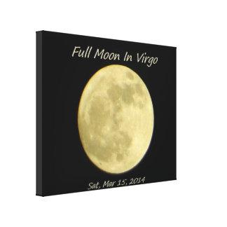 98% Full Moon In Virgo Canvas Print