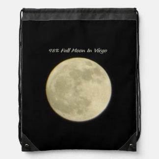 98% Full Moon In Virgo Drawstring Bag