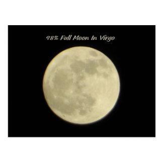 98% Full Moon In Virgo Postcard