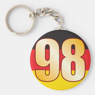 98 GERMANY Gold Basic Round Button Keychain