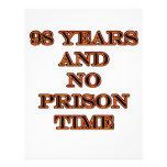 98 ninguna hora de prisión membrete a diseño