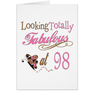 98.o cumpleaños tarjeta