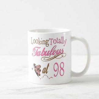 98 o cumpleaños taza