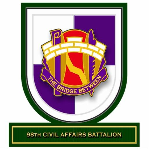 98.o Flash del batallón de los asuntos civiles Escultura Fotografica
