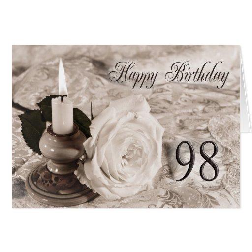 98.o Tarjeta de cumpleaños con un color de rosa