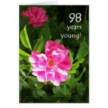 98.o Tarjeta de cumpleaños - rosas rosados