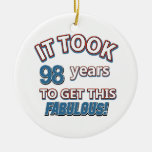 98.os diseños del cumpleaños del año ornatos