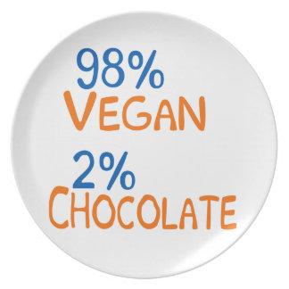 98 Percent Vegan Dinner Plate