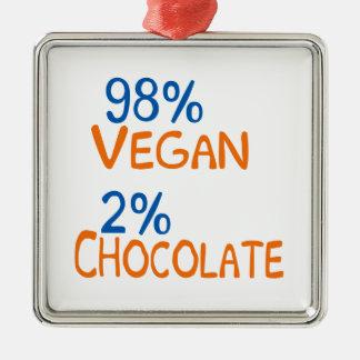 98 Percent Vegan Metal Ornament