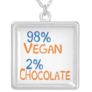98 Percent Vegan Square Pendant Necklace