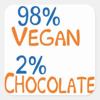 98 Percent Vegan Square Sticker
