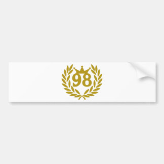 98-real-laurel-crown bumper sticker