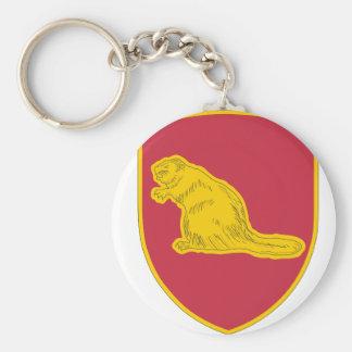 98 Regiment Basic Round Button Keychain