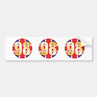 98 UK Gold Bumper Sticker