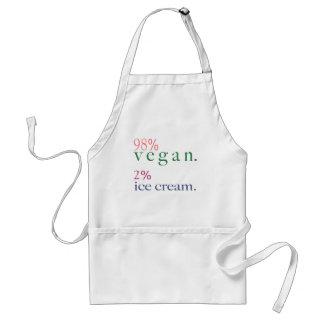 98% Vegan 2% Ice Cream Adult Apron