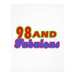98 y diseños fabulosos del cumpleaños membretes personalizados