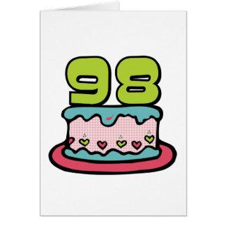 98 Year Old Birthday Cake Card