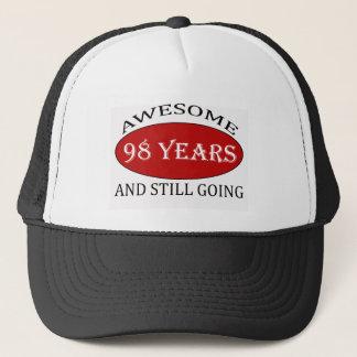 98 years old birthday designs trucker hat