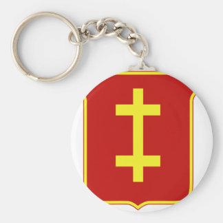 98th Airborne Field Artillery Basic Round Button Keychain