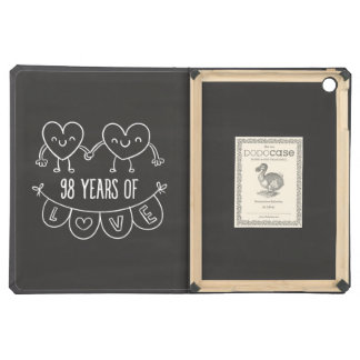 98th Anniversary Gift Chalk Hearts Cover For iPad Air