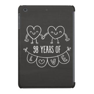 98th Anniversary Gift Chalk Hearts iPad Mini Case