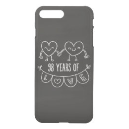 98th Anniversary Gift Chalk Hearts iPhone 8 Plus/7 Plus Case