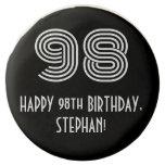 "[ Thumbnail: 98th Birthday - Art Deco Inspired Look ""98"", Name ]"