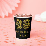 "[ Thumbnail: 98th Birthday: Art Deco Inspired Look ""98"" & Name ]"