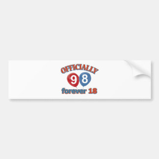 98th birthday designs bumper sticker