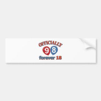 98th birthday designs bumper stickers