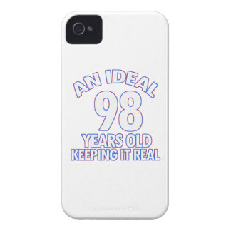 98th birthday designs Case-Mate iPhone 4 cases