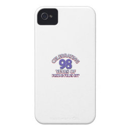 98th birthday designs iPhone 4 cover