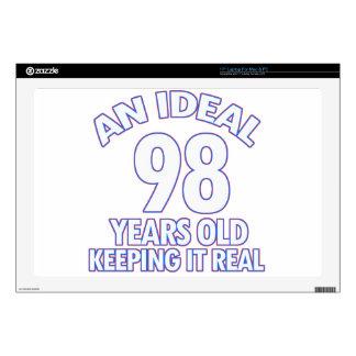 98th birthday designs laptop skin