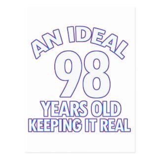 98th birthday designs postcard