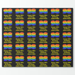 [ Thumbnail: 98th Birthday: Fun, Colorful Rainbow Inspired # 98 Wrapping Paper ]