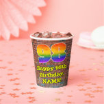 [ Thumbnail: 98th Birthday: Fun Graffiti-Inspired Rainbow 98 ]
