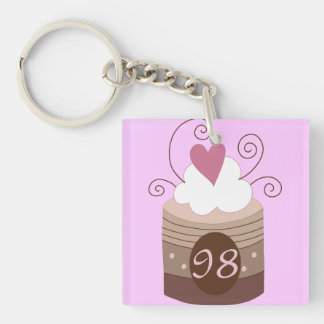98th Birthday Gift Ideas For Her Single-Sided Square Acrylic Keychain