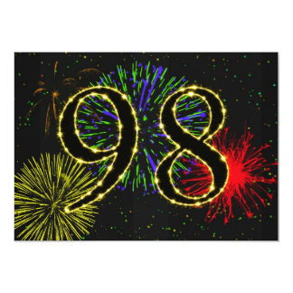98th  birthday party invitate card