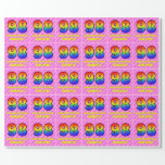 [ Thumbnail: 98th Birthday: Pink Stripes & Hearts, Rainbow # 98 Wrapping Paper ]
