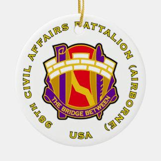 98th Civil Affairs Bn - Airborne Ceramic Ornament