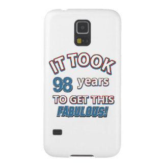 98th year birthday designs case for galaxy s5