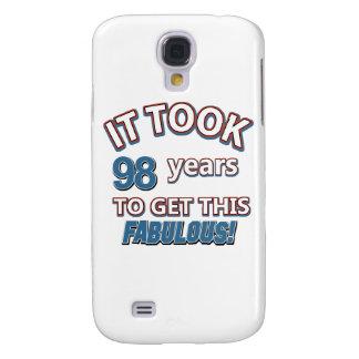 98th year birthday designs samsung s4 case