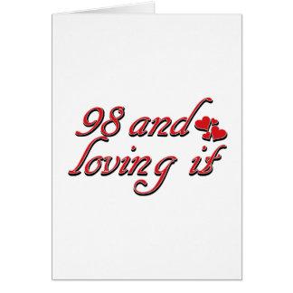 98TH year designs Card