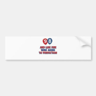 98th year old birthday designs bumper sticker