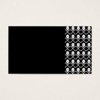 992614 BLACK WHITE SKULL CROSSBONES PIRATE GANG PA BUSINESS CARD