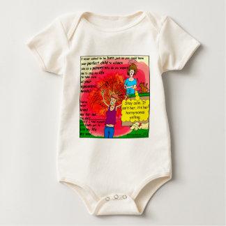 994 Hornymones teen screaming cartoon Baby Bodysuit