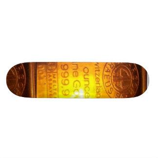 999.9 Gold Skateboard